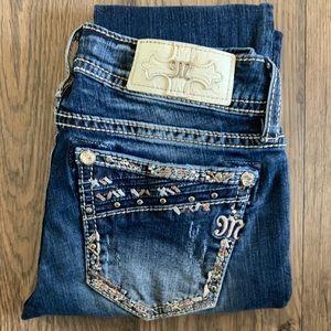 Miss me cuffed straight leg jeans